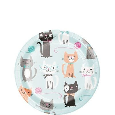 Creative Party Purr-fect Party | Bordjes 18 cm (8st.)