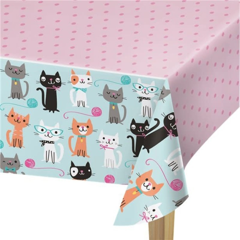 Creative Party Purr-fect Party|Tafelkleed (137 x 259cm)