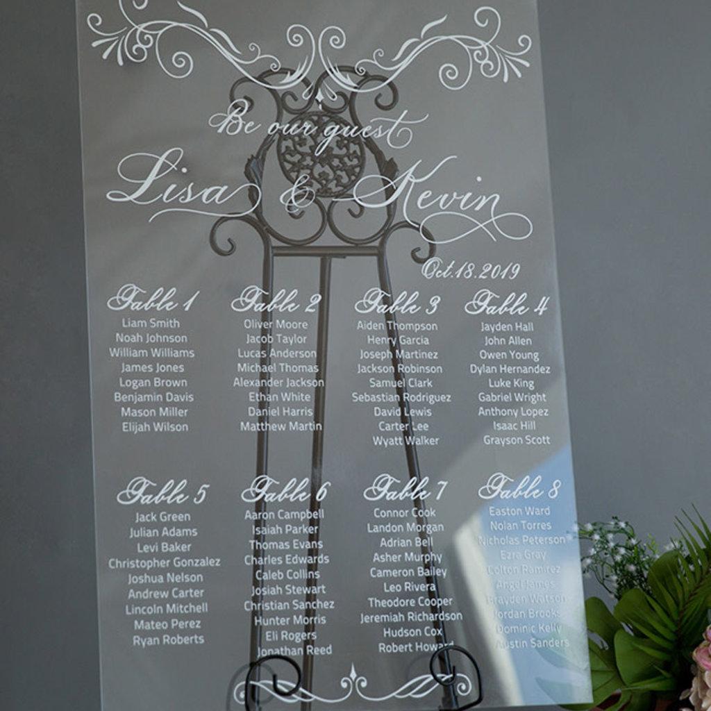 Janice Paper Tafelschikkingsbord (transparant)