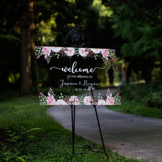 Janice Paper Welkomstbord (transparant) - Floral chic