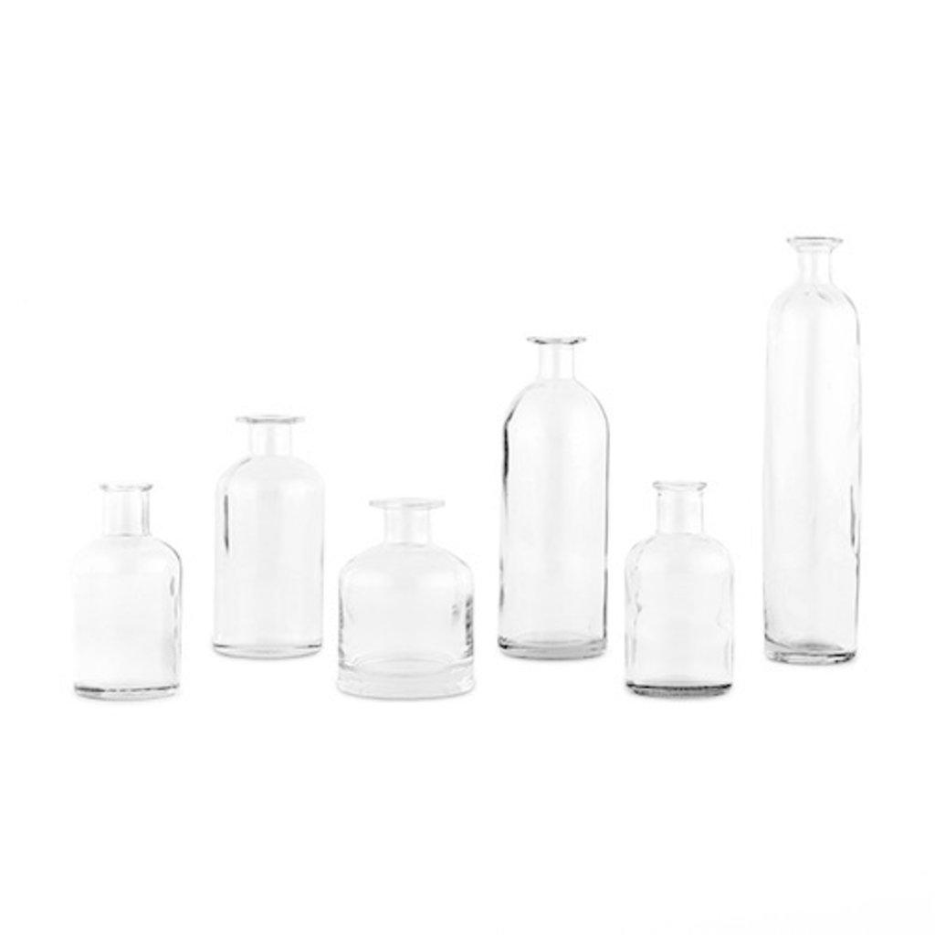 Verhuur - Set glazen vaasjes (6stuks)