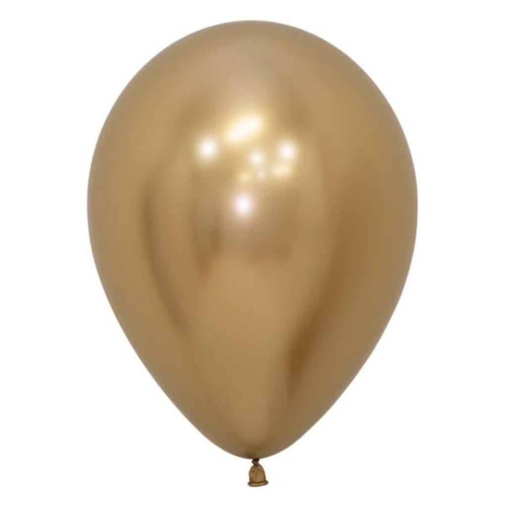 Chrome ballonnen 30cm - Goud (10st.)