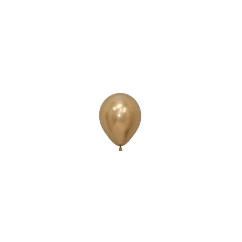 Sempertex Chrome ballonnen 12cm - Goud (10st.)