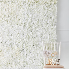 Verhuur - Witte bloemenmuur - backdrop