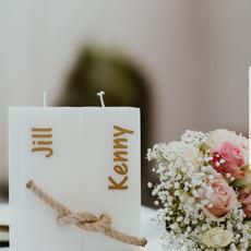 Huwelijkskaarsen met touw
