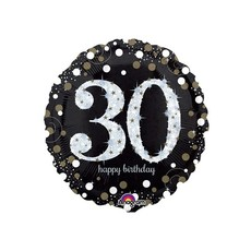 Sempertex Glitter Happy Birthday 30 - Folieballon (45cm)