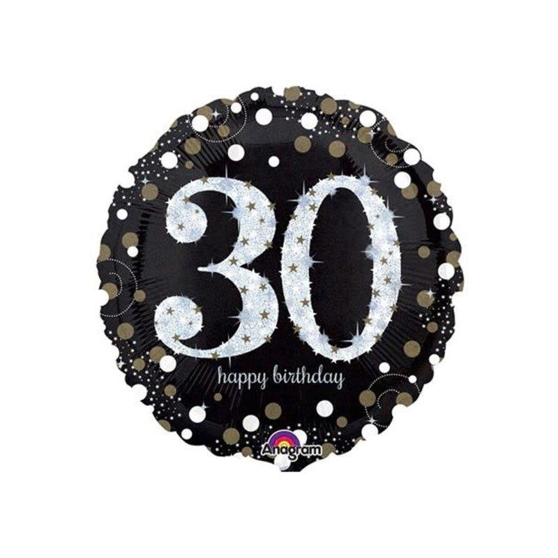 Sempertex Glitter Happy Birthday 30