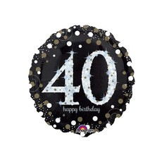 Sempertex Glitter Happy Birthday 40 - Folieballon (45cm)