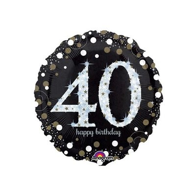 Sempertex Glitter Happy Birthday 40