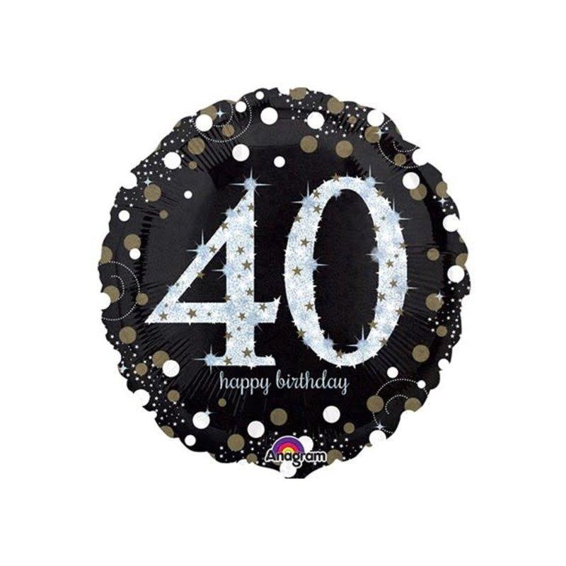 Sempertex Glitter Happy Birthday 40