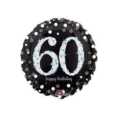 Sempertex Glitter Happy Birthday 60 - Folieballon (45cm)