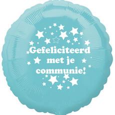 """Folieballon Communie - Lichtblauw (18"""")"""