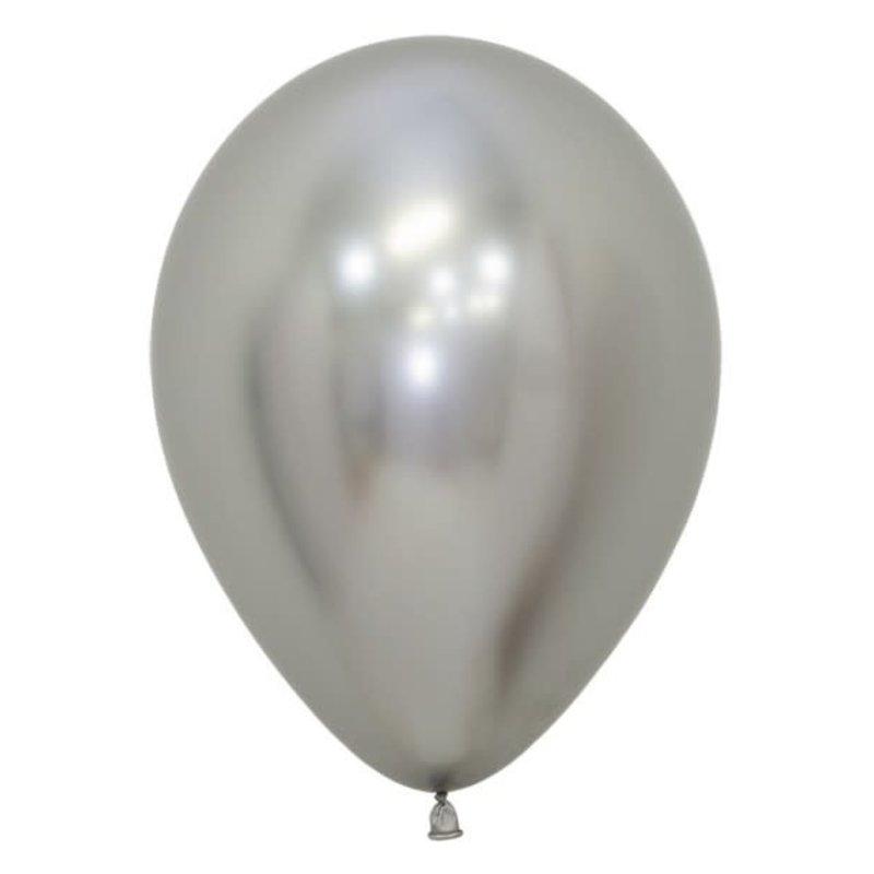 Chrome ballonnen 30cm - Zilver (10st.)