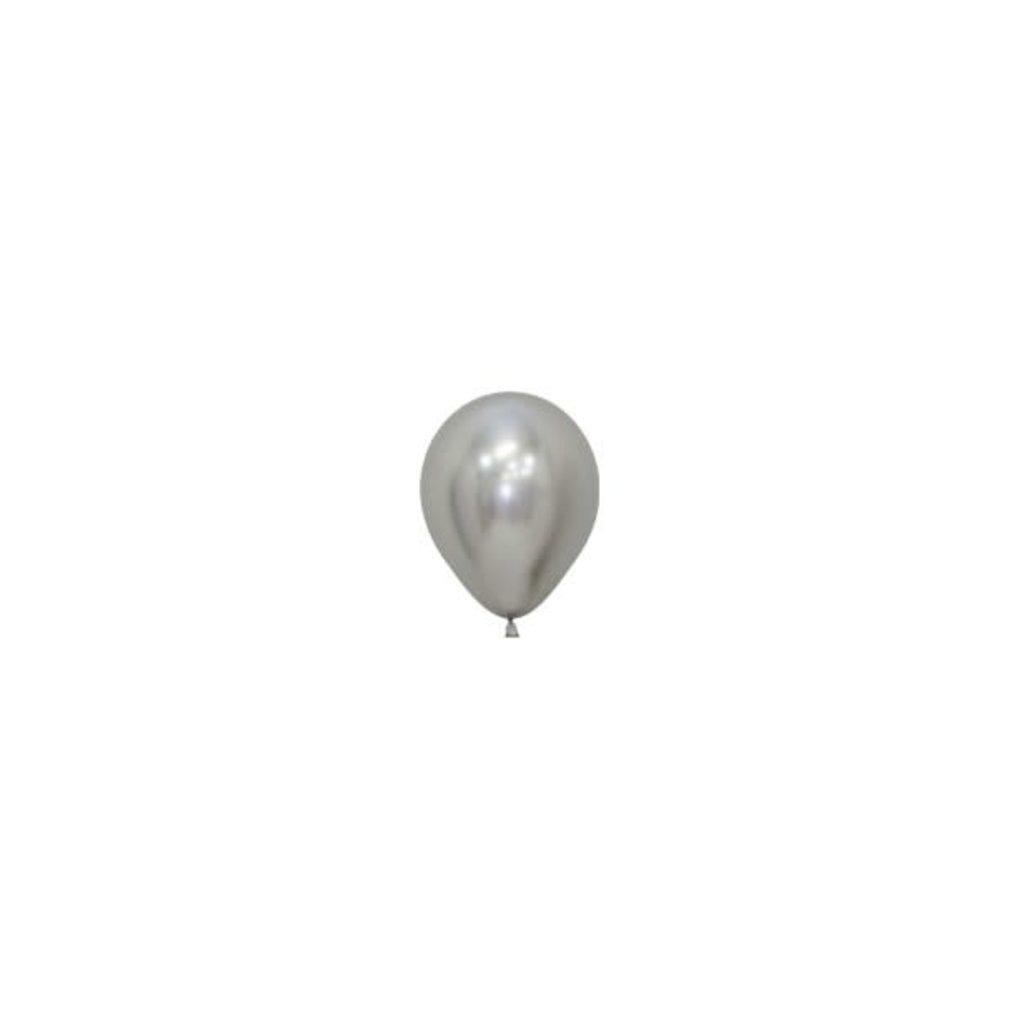 Sempertex Chrome ballonnen 12cm - Zilver (10st.)