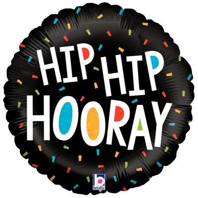 "Hip Hip Hooray - folieballon (18"")"