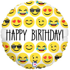 Happy Birtthday emoji - Folieballon (45cm)
