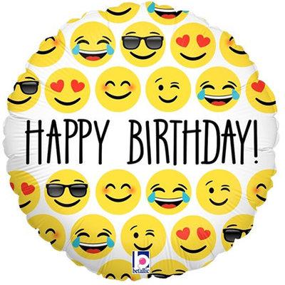 "Happy Birtthday emoji - folieballon (18"")"