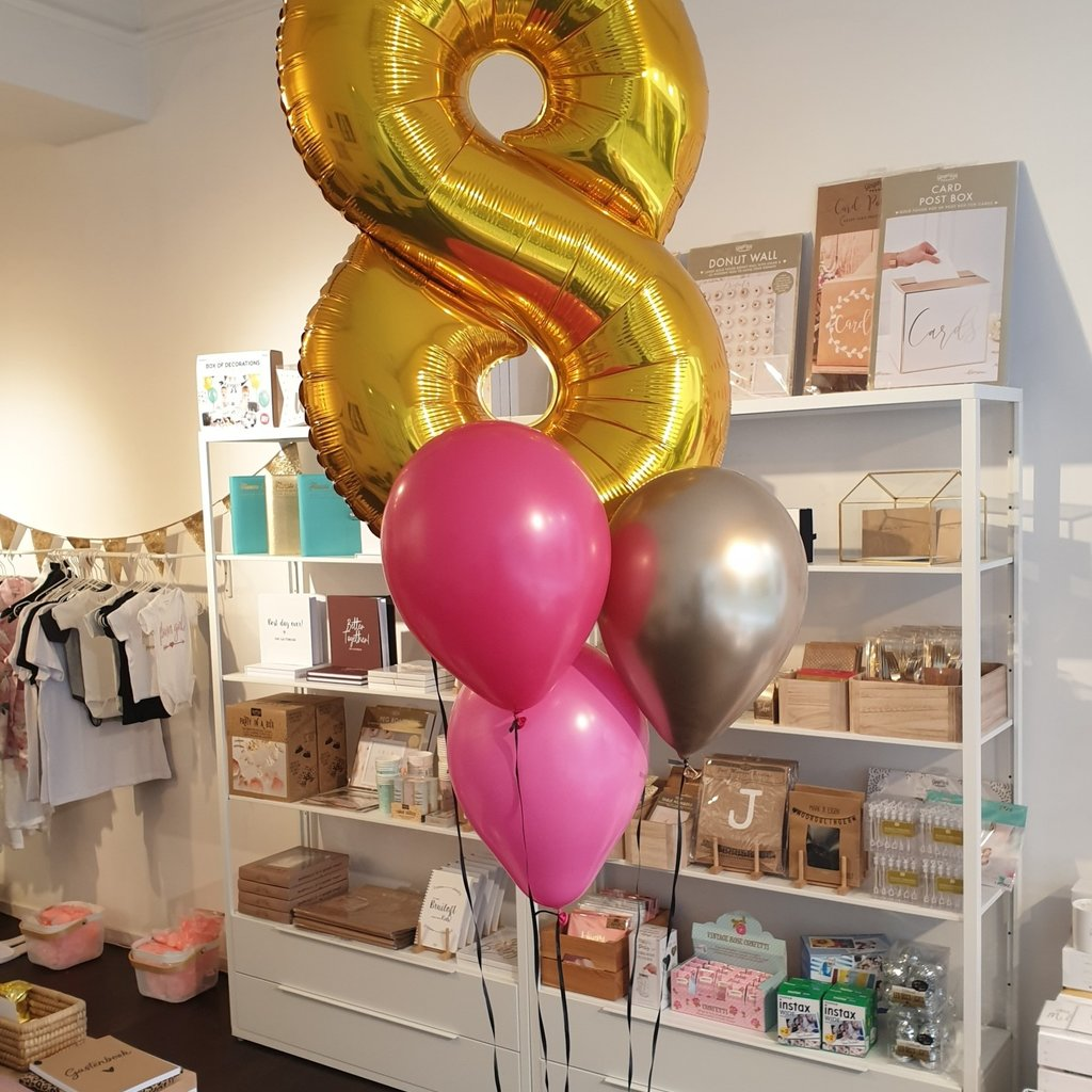 Cijferballonnen 86cm (incl. helium + gewichtje)