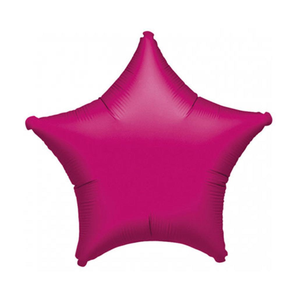 Ster - Folieballon (45cm) - Fushia