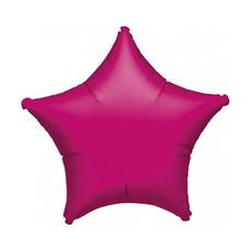Folieballon - Ster (fushia) 45cm