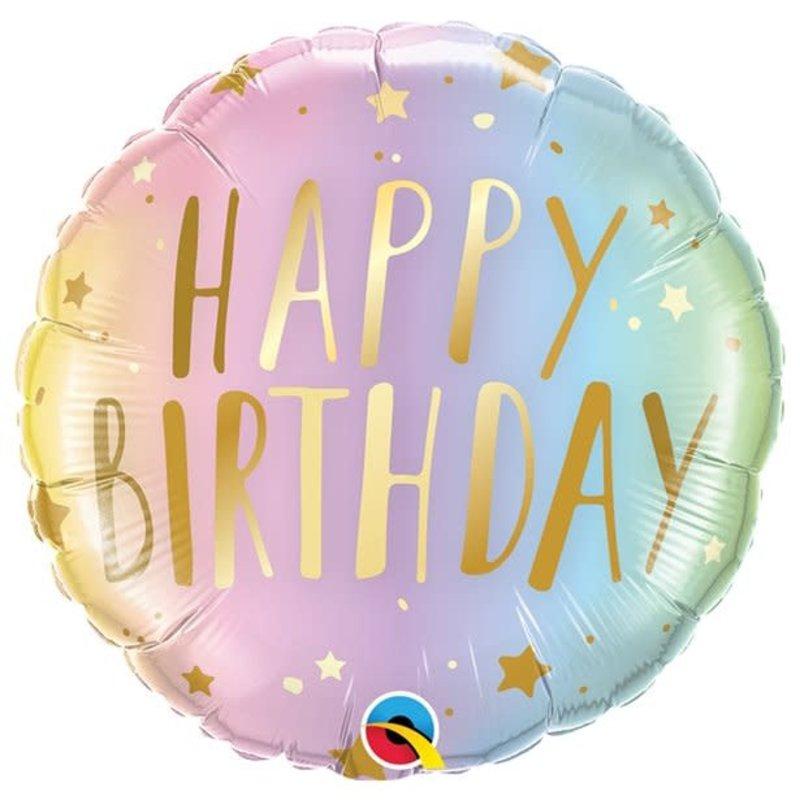 Happy Birthday Pastel - Folieballon (45cm)