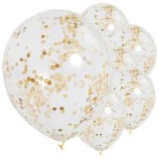 Confetti Ballonnen - Goud (6 st.)