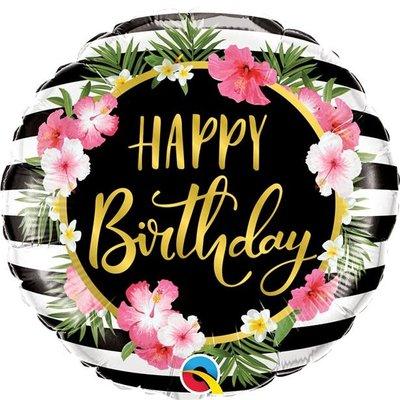 Qualatex Happy Birthday Flower- Folieballon