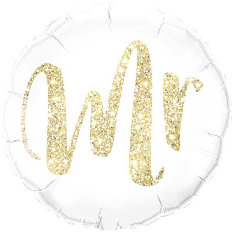 Qualatex Gold Glitter Mr - Folieballon (45cm)