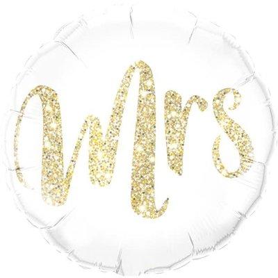 Qualatex Gold Glitter Mrs- Folieballon