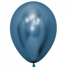 Sempertex Chrome ballonnen 30cm - Blauw (10st.)
