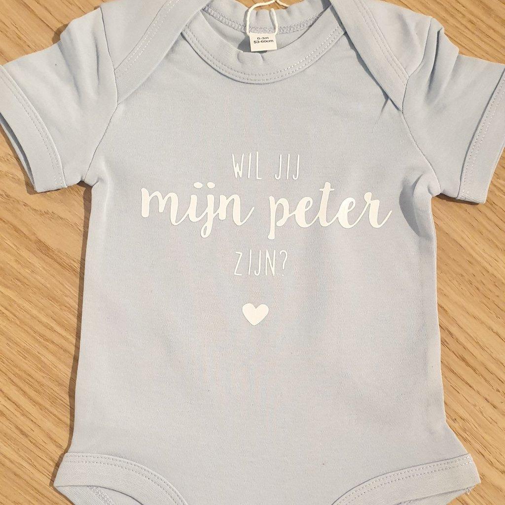 the wedding agency Baby romper - Wil je mijn peter zijn?