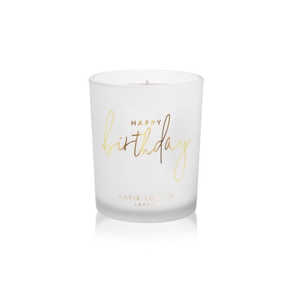 Katie Loxton Sentiment Candle - Happy Birthday