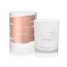 Katie Loxton Sentiment candle - Live Laugh Love