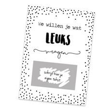 Hippekaartjes.nl DIY Kraskaart - We Willen je wat leuks vragen
