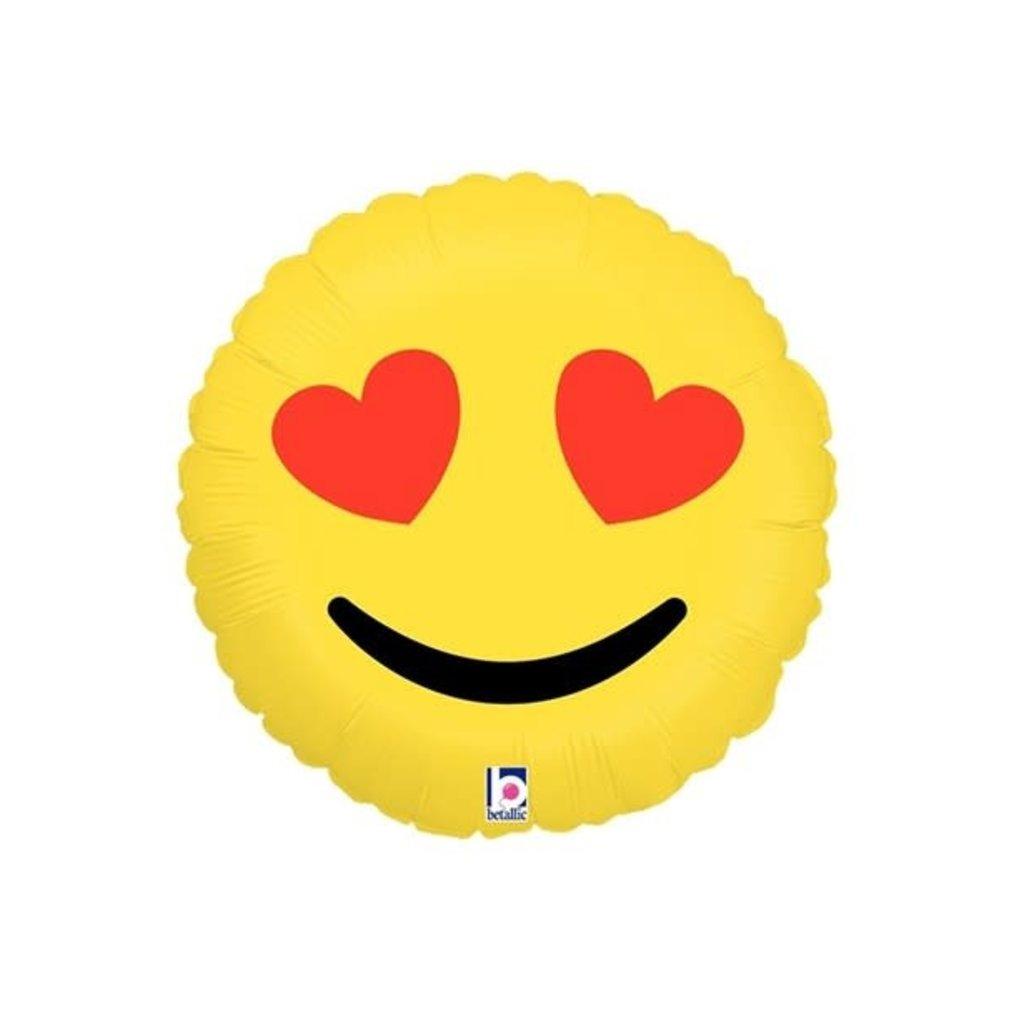 "Emoji heart eyes - folieballon (18"")"