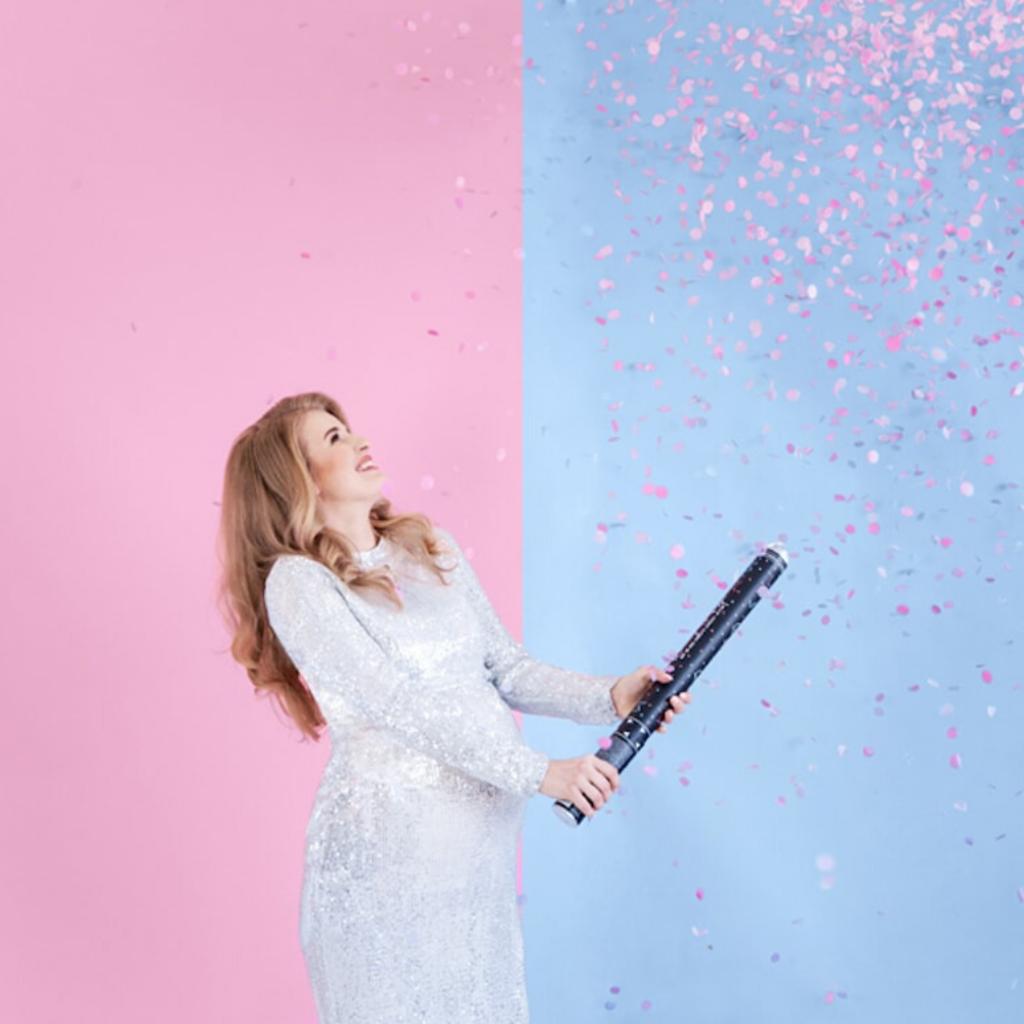 Partydeco XL Confetti kanon 'Gender Reveal - Girl'