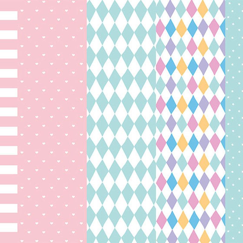 Geschenkpapier - Pastel mix (68.5x100cm)