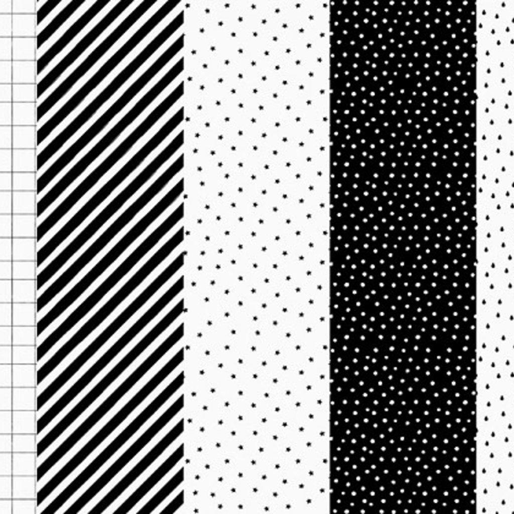 Geschenkpapier - Black & White mix (68.5x100cm)