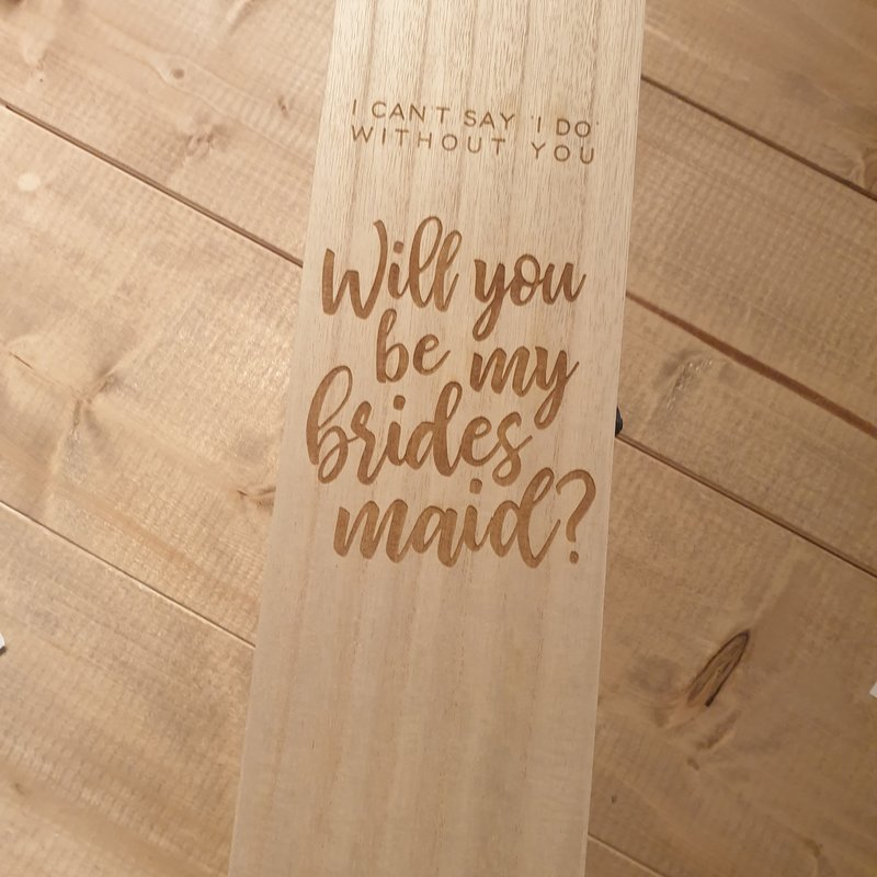 Wijnkist - Will you be my bridesmaid?