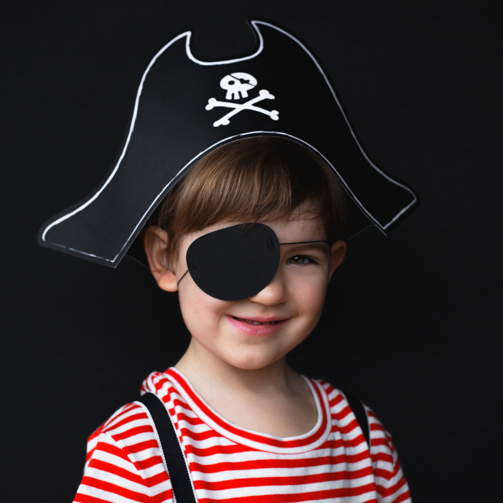 Piratenfeestje - Hoed en Ooglapje