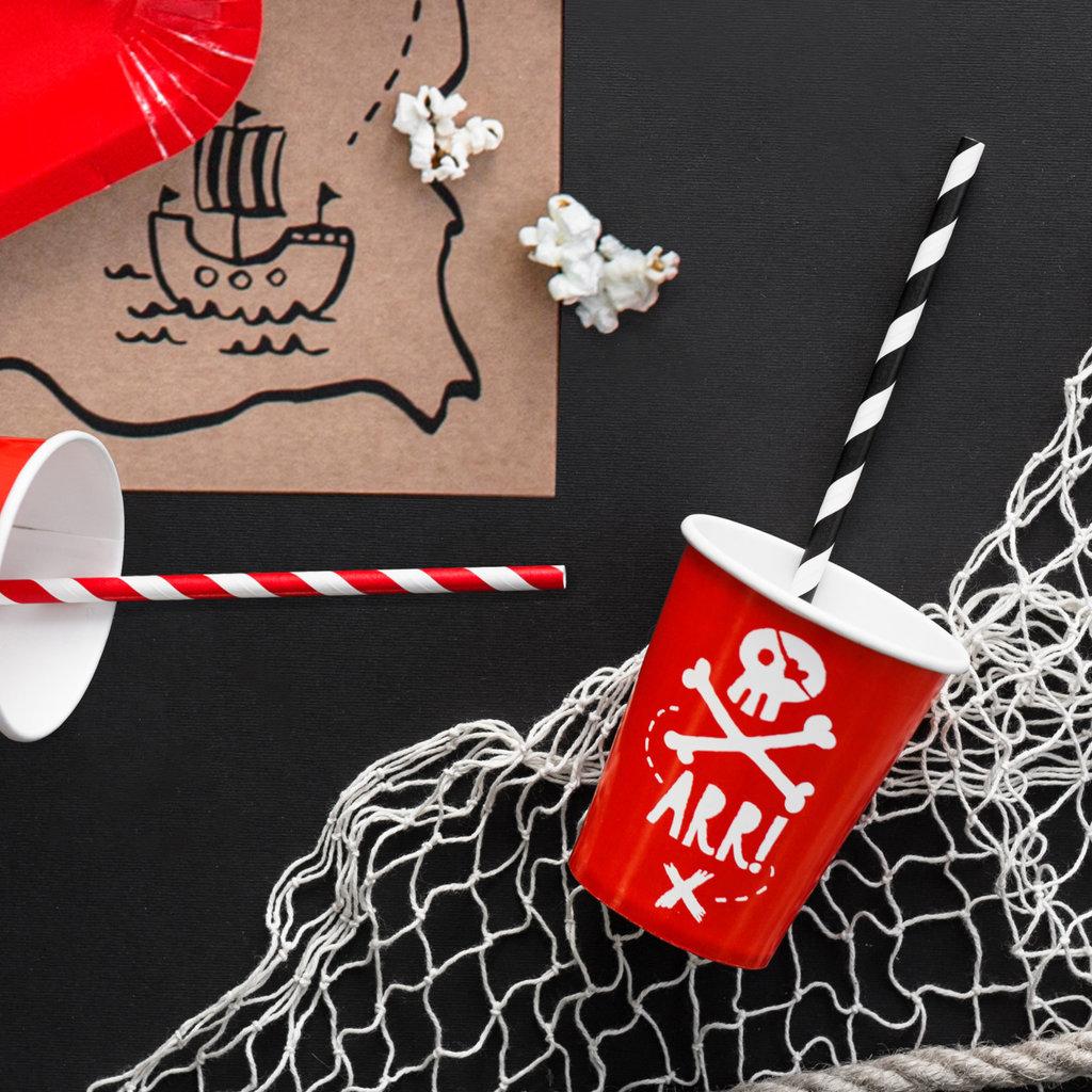Piratenfeestje - Kartonnen bekertjes (6st.)
