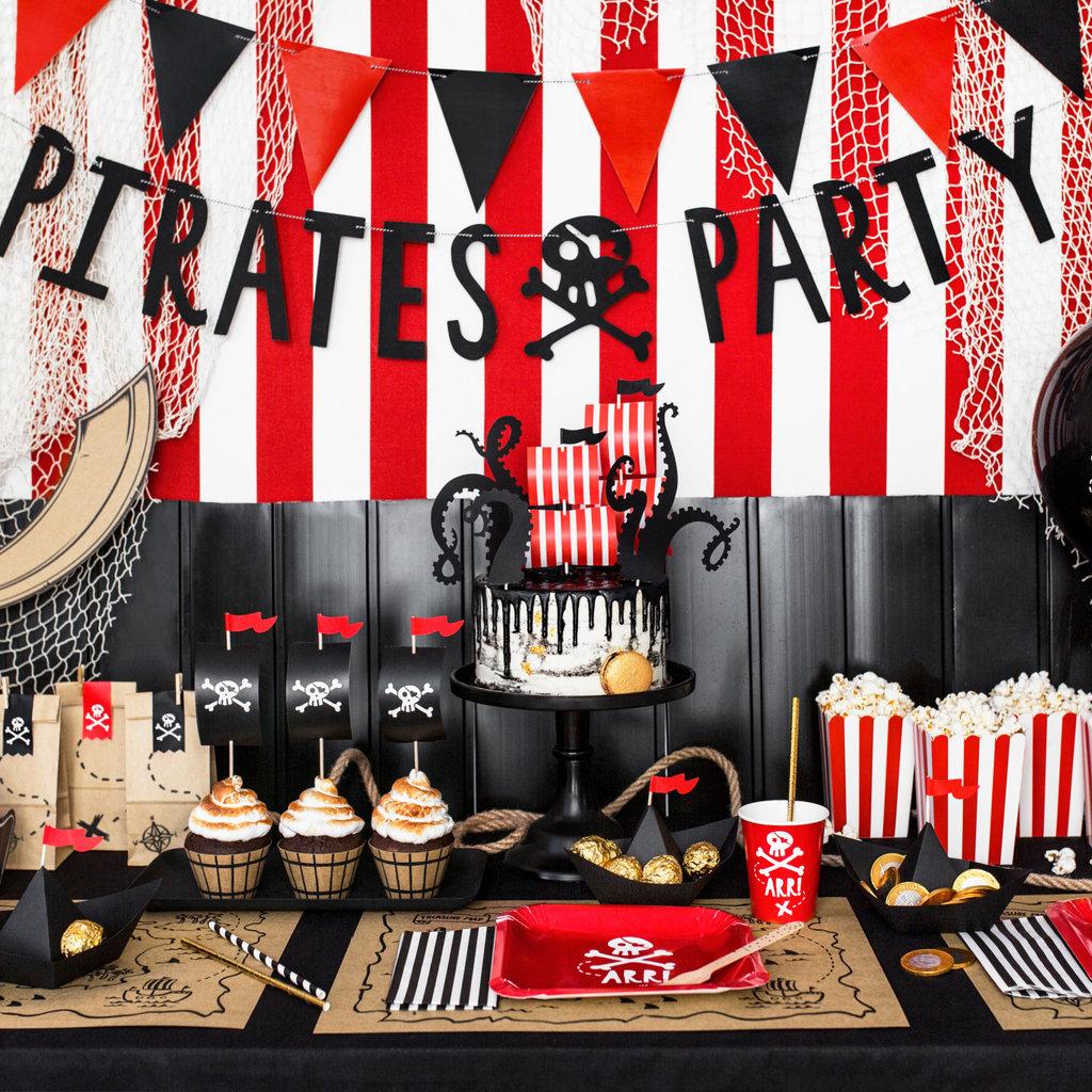 Piratenfeestje - Snoepzakjes (6st.)