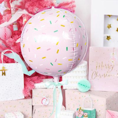 Partydeco Sprinkle bal - Folieballon (40cm)