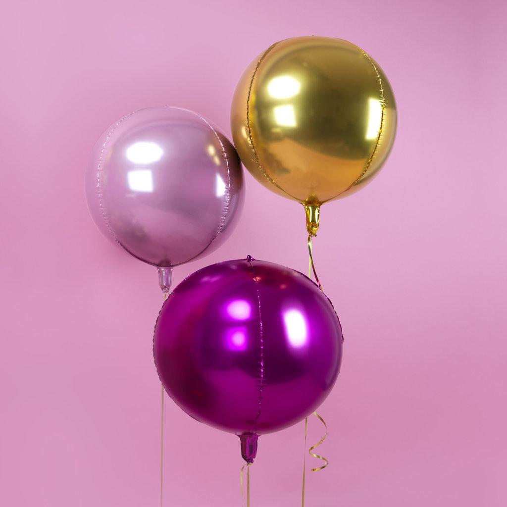 Partydeco Pink bal - Folieballon (40cm)