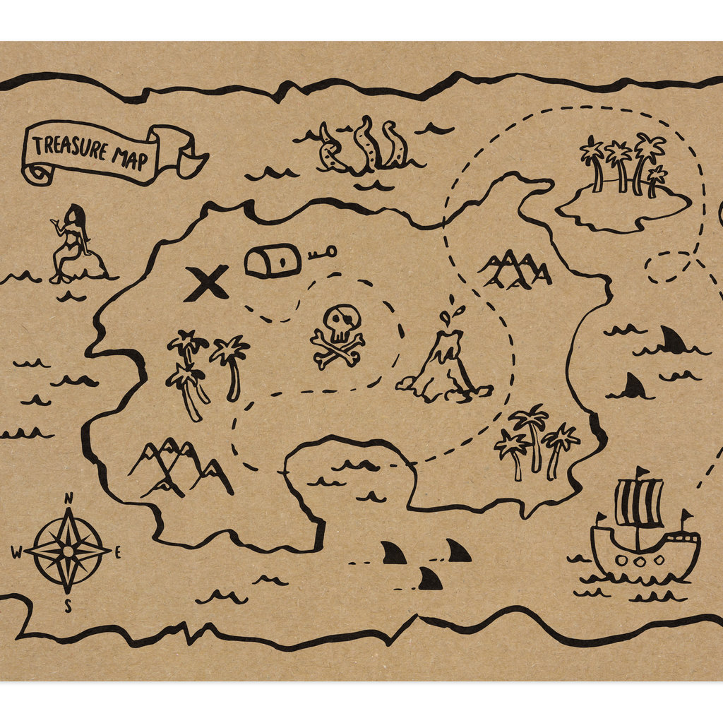 Piratenfeestje - Schatkaart Placemats (10st.)