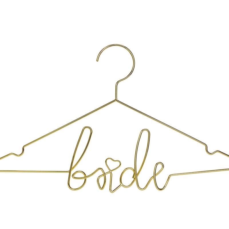 Gouden kledijhanger - Bride