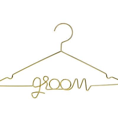 Gouden kledijhanger - Groom