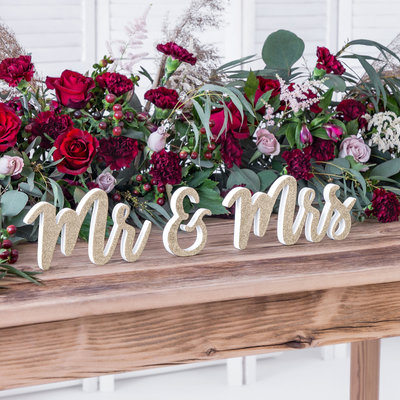 Mr & Mrs letters