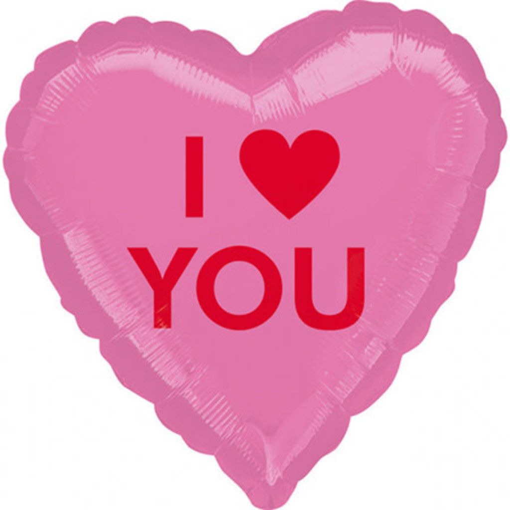 "Anagram I love you - Folieballon (17"")"
