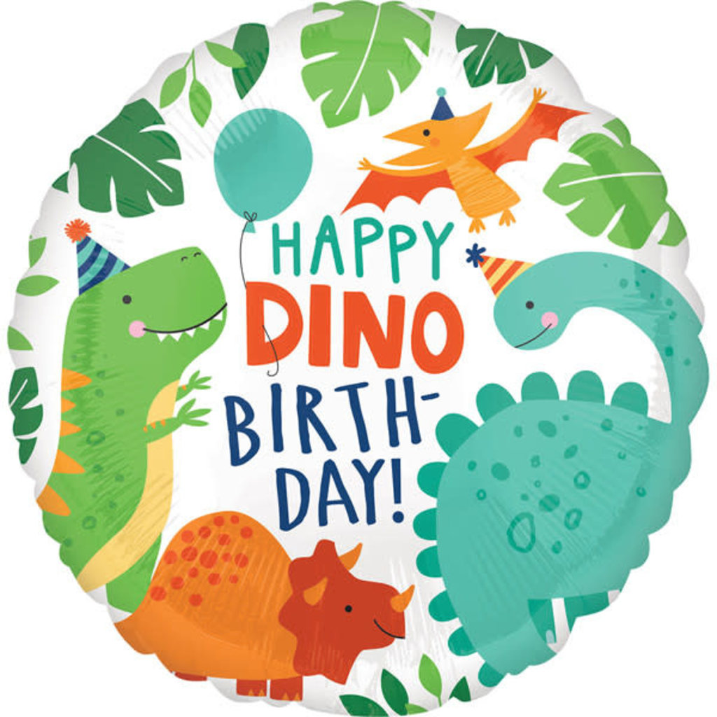 Anagram Happy Dino Birthday - Folieballon (45cm)